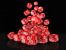 Dices with percent sign Royalty Free Stock Image