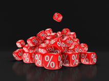 Dices with percent sign Stock Photo