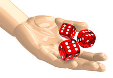 The dices. The picture shows three dices Royalty Free Stock Photography