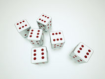 Dices rendered Royalty Free Stock Images