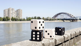 Dices Resting On The Wall stock photography