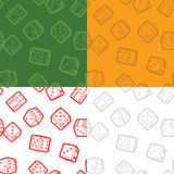 Dices seamless backgrounds set Royalty Free Stock Photos