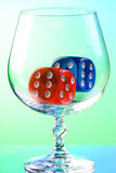 Dices in snifter Stock Photo