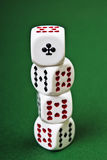 Dices on the table. Dices on the green table Stock Images