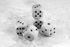 The dices on table Royalty Free Stock Image