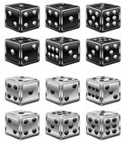 Dices on white Stock Photography