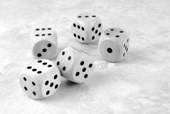the dices white Royalty Free Stock Photo