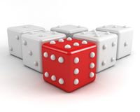 Dices. winning leadership concept Royalty Free Stock Photo