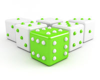 Dices winning leadership concept Stock Image