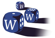Dices with www Royalty Free Stock Image