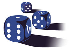 Dices with www Stock Photo