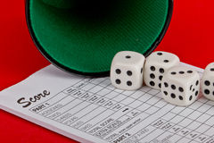 Dices, Yahtzee Royalty Free Stock Photo