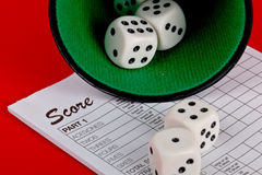 Dices, Yahtzee Stock Photo