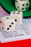 Dices, yahtzee royalty free stock image
