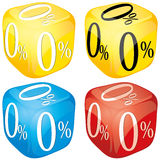 Dices with zero percent Stock Photo