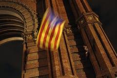 Dichiarazione catalana di indipendenza fotografie stock libere da diritti