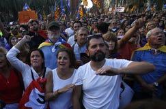 Dichiarazione catalana di indipendenza immagini stock