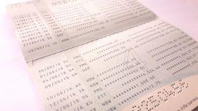Dichiarazione di Bookbank per la carta di debito di credito di visto Immagini Stock