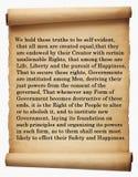 Dichiarazione di indipendenza Immagini Stock Libere da Diritti