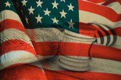 Dichiarazione di indipendenza degli Stati Uniti Immagine Stock