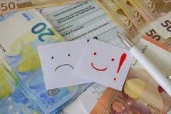 Dichiarazione tedesca di imposta Fotografie Stock Libere da Diritti