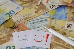 Dichiarazione tedesca di imposta Immagini Stock Libere da Diritti