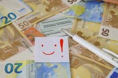 Dichiarazione tedesca di imposta Fotografia Stock Libera da Diritti