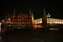 Dichiari il museo ed il Cremlino storici alla notte, Mosca Fotografia Stock