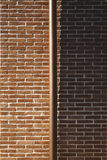Dichotomie des brickwall Lizenzfreie Stockbilder