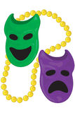 Dichotomy masks. For mardi gras with gold bead