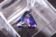 Dichroic Glass Pendant Stock Photography