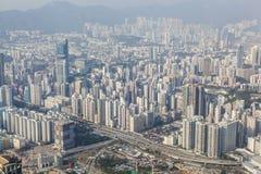 Dicht bevölkerter Bereich in Hong Kong lizenzfreie stockbilder