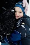 Dicht bij mamma op een koude dag royalty-vrije stock fotografie