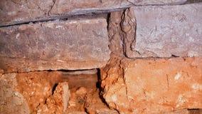 dicht het worden van de baksteen stock afbeelding