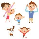 Dicht ouder en kind stock illustratie