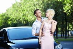 Dichtbij Auto Royalty-vrije Stock Afbeeldingen