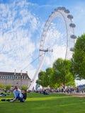 Dichtbij het Oog van Londen Stock Foto's