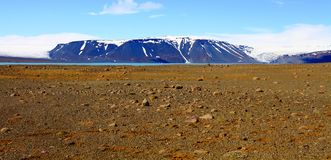 Dichtbij Hvitarnes-hut, IJsland royalty-vrije stock foto's