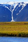 Dichtbij Hvitarnes-hut, IJsland stock foto