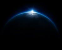 Dichtbij Ruimtefotografie - 20km boven grond/echt foto genomen Fr royalty-vrije stock foto