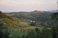 Dichtbij Terriccola-chianti Toscanië Stock Foto's