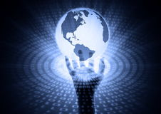 Dichtbije informatie wereldwijd stock illustratie