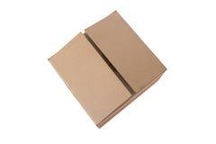Dichte bruine karton verschepende doos Stock Afbeeldingen
