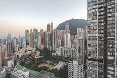 Dichte cityscape in Hong Kong Royalty-vrije Stock Afbeelding