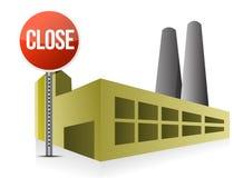 Dichte fabriek Stock Afbeelding