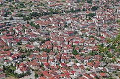 Dichte Kastraki-Stadt in Griechenland Lizenzfreie Stockbilder