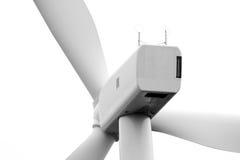 Dichte mening van de rug van een motorgondel van de windturbine Stock Foto's