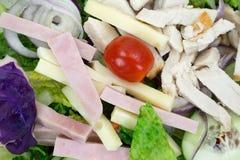 Dichte mening van een gezonde chef-koksalade stock afbeelding