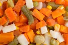 Dichte mening van gemengde groenten Stock Foto's