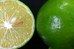Dichte menings Verse citroen Royalty-vrije Stock Afbeeldingen